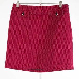 ANN TAYLOR Loft – Textured Red Skirt – 10